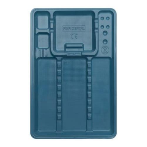 Eh. nagy osztott tálca, 100db, v.kék, 28x18cm