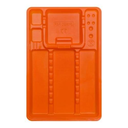 Eh. nagy osztott tálca, 100db, narancs, 28x18cm