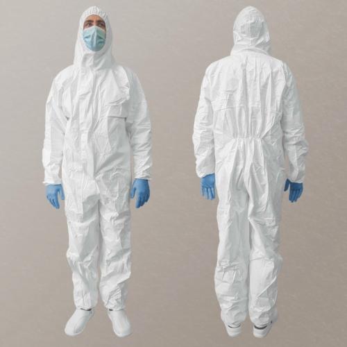 Egészségügyi védőoverál XL (vízálló, kapucnis)
