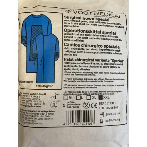 Sebészeti ruha, Speciális, steril - XXL - Vogt