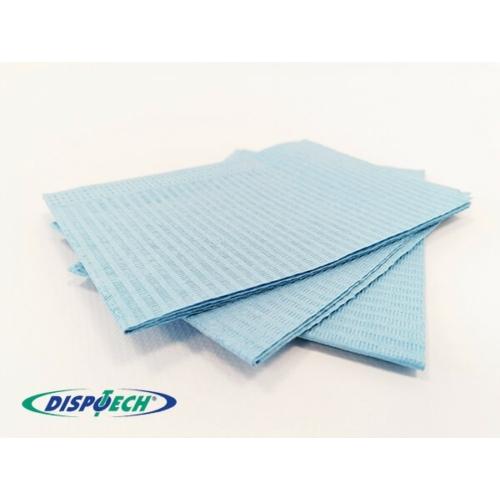 Nyálkendő lapok 500db kék 2+1rétegű - Dispotech