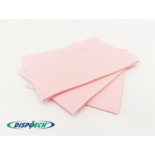 Nyálkendő lapok 500db rózsaszín 2+1rétegű - Dispotech