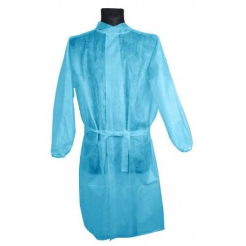 Egyszerhasználatos sebészi köpeny, 30g, kék