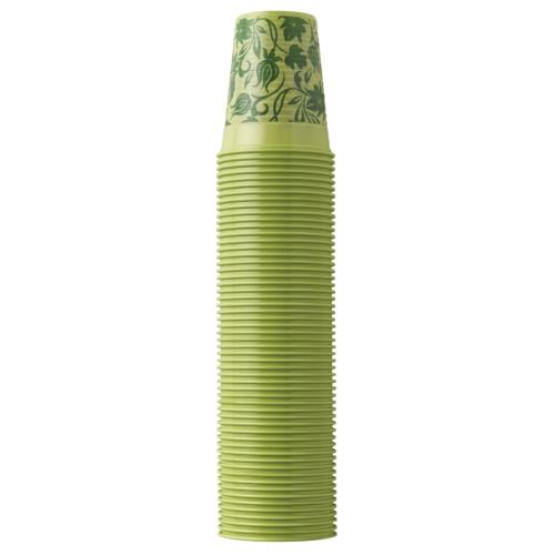 Műanyag Pohár 2dl, lime virágos, 100db - EURONDA