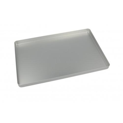Alumínium tálca alap, nem perforált 284x183x17 ezüst színű - EURONDA