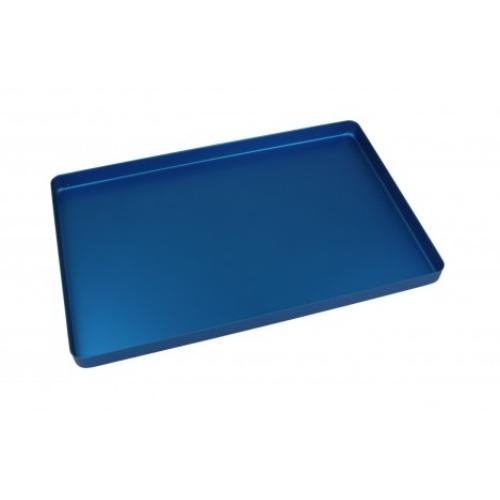 Alumínium tálca alap, nem perforált 284x183x17 kék színű - EURONDA