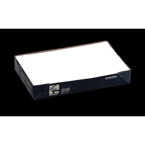 Tálca Papír 250db fehér 18x28cm